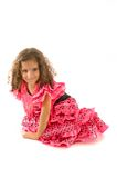 Child. Cute Girl with typical spain dancer clothes stock images
