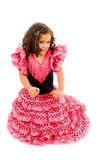 Child. Cute Girl with typical spain dancer clothes stock photography