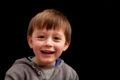 Child. Little boy playing and laughing Stock Photo