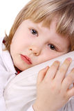 Child. Cute sweet child in a melancholy mood Stock Photos