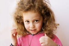 Child. Little child girl portrait headshot Stock Photos