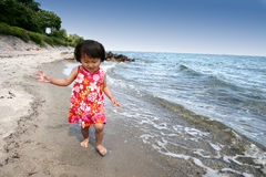 Child. Happy child outdoor at the beach Stock Photo