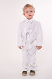 Child. Caucasian baby boy with tuxedo Stock Photography