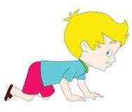 Child. Crawling baby boy on white Royalty Free Stock Image