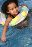 African American Child Swimming Royalty Free Stock Photos