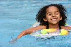 Afro Child Swimming Stock Photography
