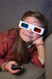 Child with 3D glasses Royalty Free Stock Image