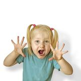 Child. Cry of child Stock Photography