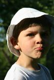 Child. A child with white hat royalty free stock image
