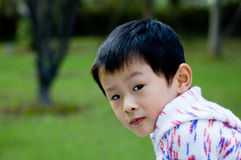 Child. Naive pure children expression in one's eyes Stock Image