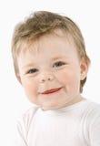 Child. Expressive child portrait isolated on white background Stock Images