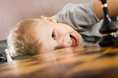 Free Child About A Chessboard Royalty Free Stock Photography - 8481697