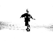Child abstract soccer player Royalty Free Stock Image