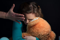 Child abuse, beatings hand royalty free stock images
