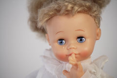 Child abuse concept. Old doll Royalty Free Stock Photography