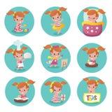 Child activity illustrations Stock Photos