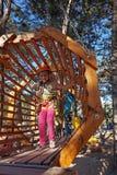 Child in adventure park Stock Image