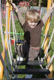 Child in adventure playground Stock Photo