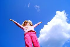 The child against the sky Royalty Free Stock Photography