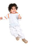 Child in the air Royalty Free Stock Image