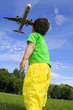 Child and airlplane Stock Photography
