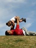 Child Airplane royalty free stock image