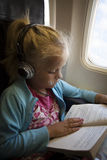 Child in airplane Royalty Free Stock Photos