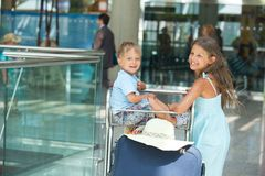 Child in the airport Stock Image