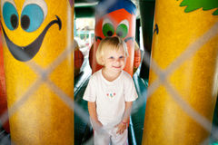 Child in the amusement park Stock Photography