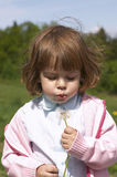 Child And Blow-ball Royalty Free Stock Images