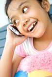 Child And Cellphone Stock Image