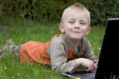 Child And Computer Royalty Free Stock Photo