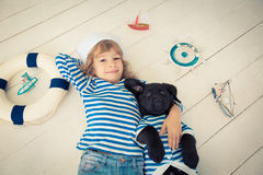 Free Child And Dog Royalty Free Stock Images - 47018639