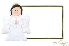 Child angel first communion picture frame Royalty Free Stock Photography