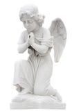 Child angel praying isolated on white Stock Images