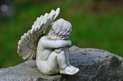 Child angel statue stock photo