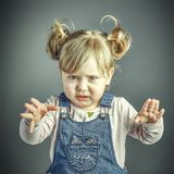 Child angry face Stock Photos