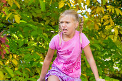 Child angry outdoor Stock Image
