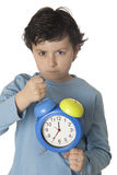 Child angry by wake up early Royalty Free Stock Photo