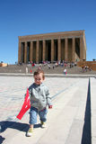Child at anitkabir Stock Images