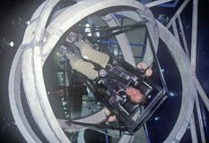 Child in anti-gravity exercise machine at Space Camp, George C. Marshall Space Flight Center, Huntsville, AL Stock Photography