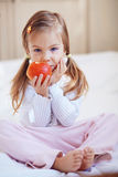 Child with apple Royalty Free Stock Photo