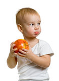 Child with an apple Royalty Free Stock Photography