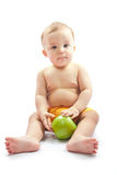 Child with apple Stock Image