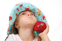 Child with an apple Royalty Free Stock Photo