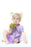 Child with the apple Royalty Free Stock Image