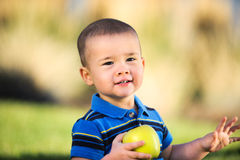 Child with Apple Royalty Free Stock Photos