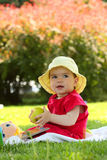 Child with the apple Royalty Free Stock Photography