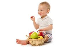 Child with apple Stock Photography