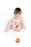 The child and apple Royalty Free Stock Photo
